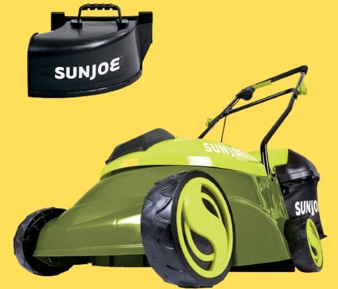 Sun Joe MJ401C-PRO 14-Inch 28-Volt Cordless Push Lawn Mower, wRear Discharge Chute